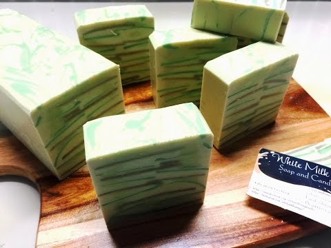 Making soap, Eucalyptus essential oil with slices of castile