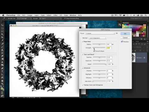 Photoshop CS6 Tutorial | Creating Holiday Wreaths