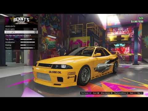 GTA 5 Fast and Furious 1 Nissan Skyline GT-R R33 Build