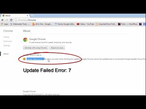 Google Chrome Error 7