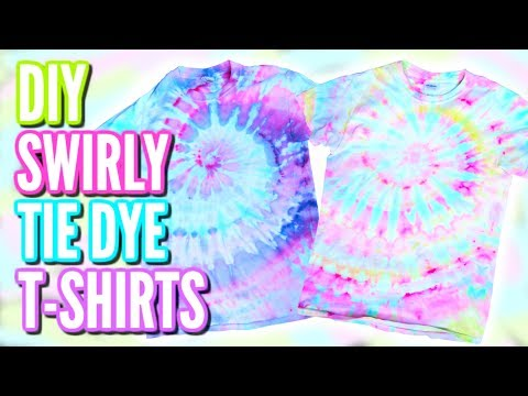 SWIRLY PASTEL WATERCOLOR TIE DYE T-SHIRTS | DIY Ice Dying Tutorial