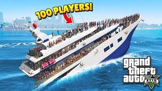 100 PLAYERS vs. YACHT! (GTA 5 Funny Moments)