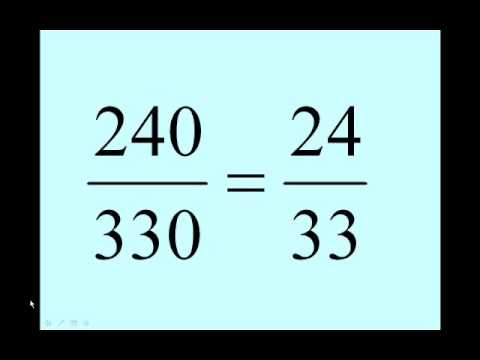 Equivalent Fractions - Finding the Lowest Terms