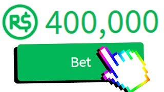 IF I LOSE THIS BET, I LOSE 400,000 ROBUX.. (Roblox)