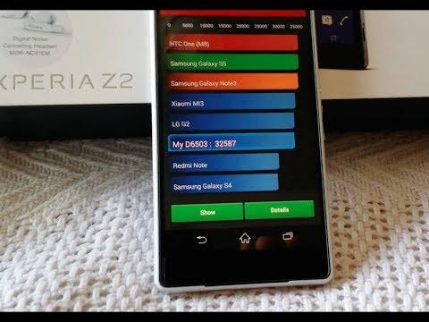 Sony Xperia Z2 - Benchmark Tests - AnTuTu Vellamo & Quadrant Standard