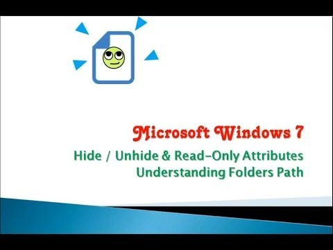 How to Hide / Read Only Folder or File in Windows 7 / 8.1 / 10 Tutorial