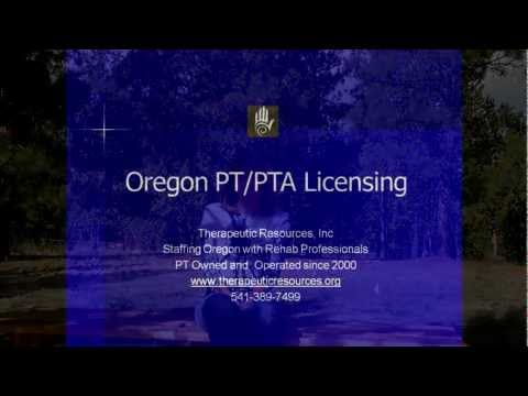 Physical Therapist and Therapy Assistant License in Oregon