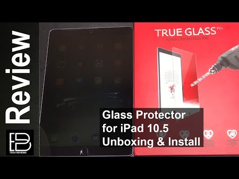 Best Apple iPad Pro 10.5 Tempered Glass Screen Protector from iCarez