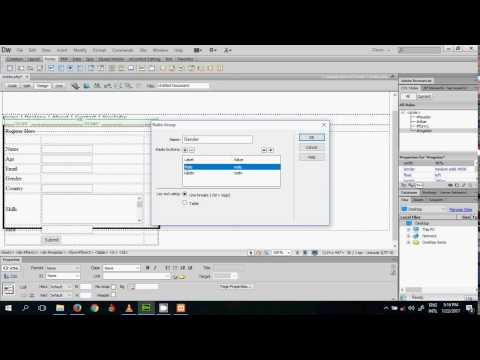 Design a PHP Form   Adobe Dreamweaver CS6 Tutorial