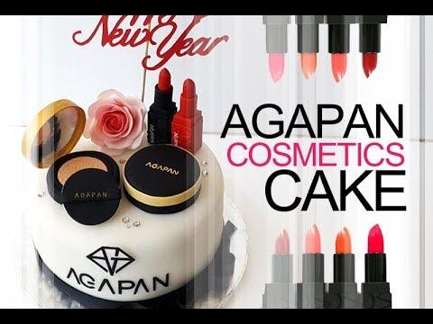 ::sugarcraft::make up cosmetics cake tutorial 화장품 슈가크래프트 케이크만들기