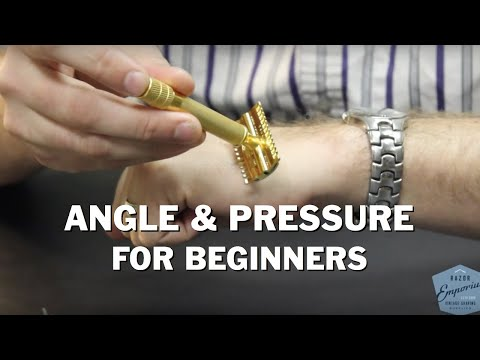 Beginner Wetshaving How To Learn Angle and Pressure for DE Safety & Straight Razors