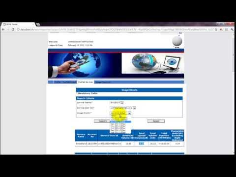 How To Check BSNL Broadband Usage via Portal 2012 FEB