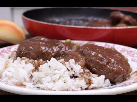 Country Hamburger Steak & Brown Onion Gravy Recipe