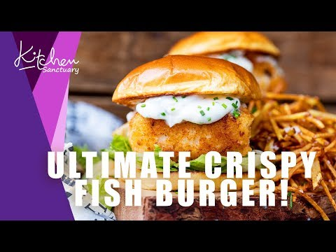 ULTIMATE Crispy Fish Burger with Shoestring Fries