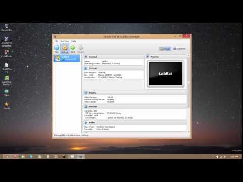 How to set up a virtual machine using VirtualBox
