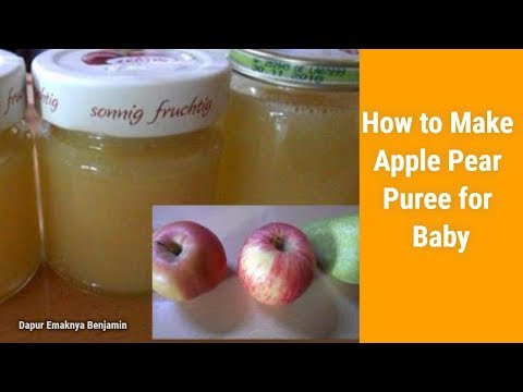 How to Make Apple Pear Puree for Baby