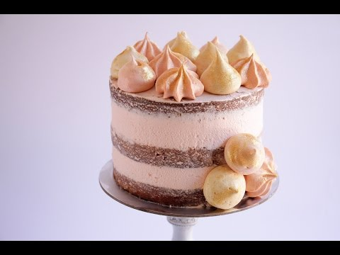 How To Make Super Thick Frosting Layers On A Naked Cake- Rosie's Dessert Spot