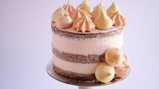How To Make Super Thick Frosting Layers On A Naked Cake Rosie S Desse