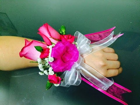 Wrist corsage-easy to make
