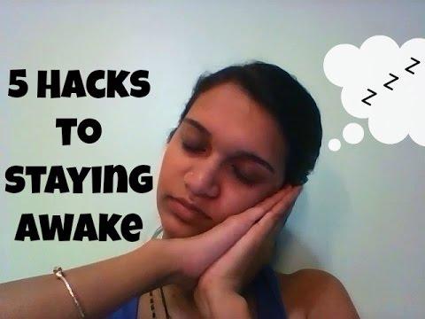 5 Hacks (Tricks) To Staying Awake When Tired || MsTeshin