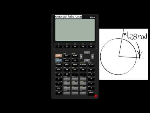 GCT003 TI-85 Convert Radians to Degrees