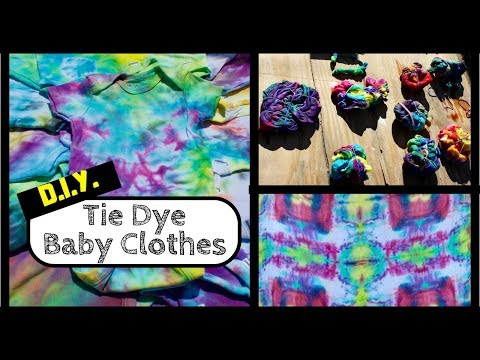 How to Tie Dye Baby Clothes - Unique Baby Shower Idea