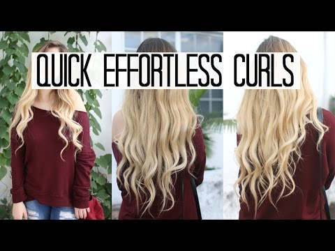 EVERYDAY LOOSE CURLS TUTORIAL || Quick & Easy