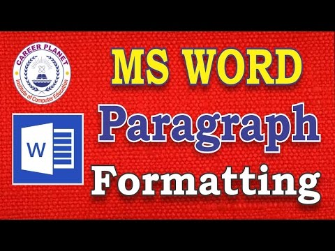 MS Word-Paragraph Formatting in Hindi