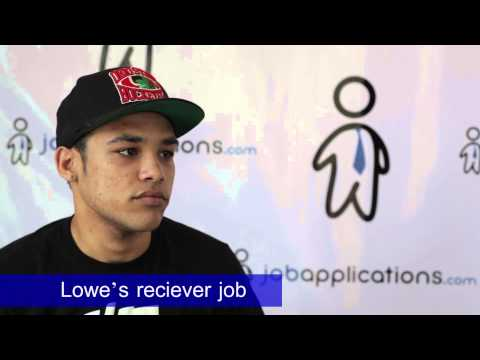 Lowe's Interview - Receiver