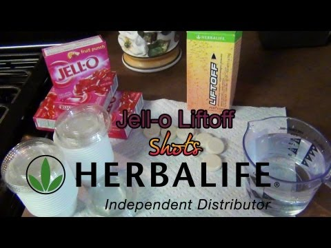 How to Make Jello Liftoff Shots (Herbalife)-Lots of Energy!