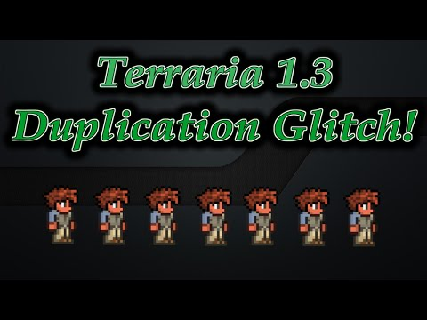 Terraria 1.3 - Duplication Glitch! Armor, Items, and more!