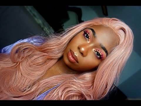 Amazon Rose Gold Pastel Pink Lace Front Wig Review/ Try On   ft Xiweiya Hair