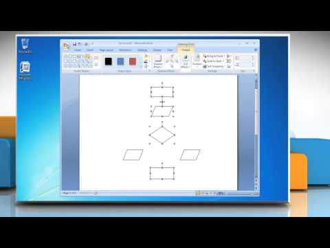 How to Make a Flow Chart in Microsoft Word 2007   YouTube