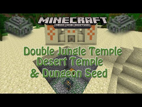 Minecraft Xbox One | Double Jungle Temple, Desert Temple & Dungeon Seed