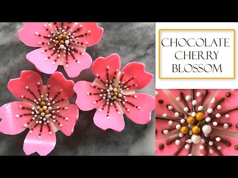 How to make a Chocolate Flower | Cherry Blossom Design