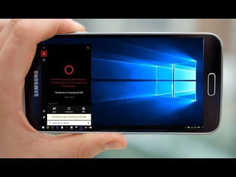 How to setup Windows 10 on any android device
