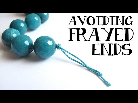 Cord Knotting Tip: How to prevent fraying