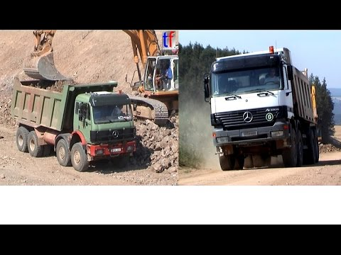 Liebherr R954B & Mercedes Oversize Dump Trucks, A6 Wernberg-Köblitz,  22.07.2003.