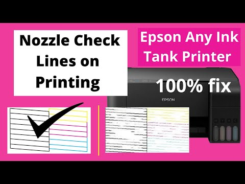 Nozzle Check , lines on printing Epson