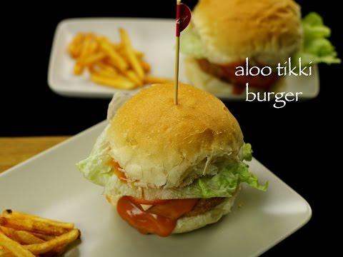 aloo tikki burger recipe | potato patties burger recipe