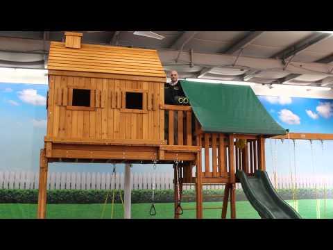 The Fantasy Tree House Swing Set
