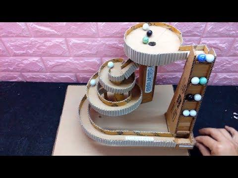 Wow! DIY Marble Run Game from Cardboard