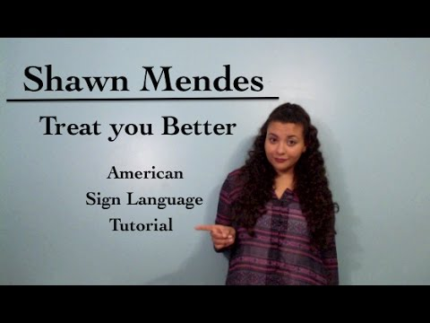 Shawn Mendes - Treat You Better (ASL Tutorial)