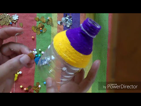 Plastic Bottle || Craft || Ideas || DIY || Recycling Crafts || Flower Vase || Thermocol Flower Pot..