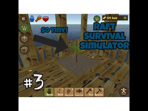 MY LITTLE PALM TREES! :3 |Raft Survival Simulator#3