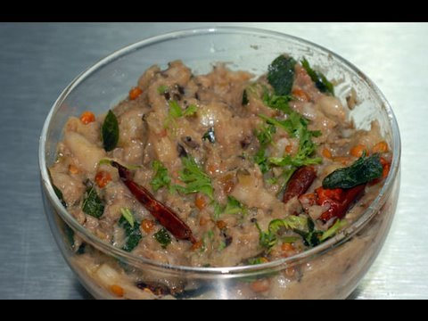 Brinjal and Cucumber chutney  - By Vahchef @ Vahrehvah.com