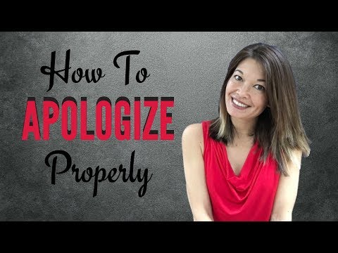 How to Apologize Properly