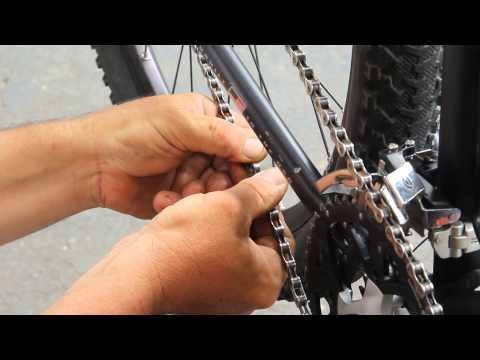 Deore XT 9 Chain Install with KMC missing link - BikemanforU - DIY Bike Repair