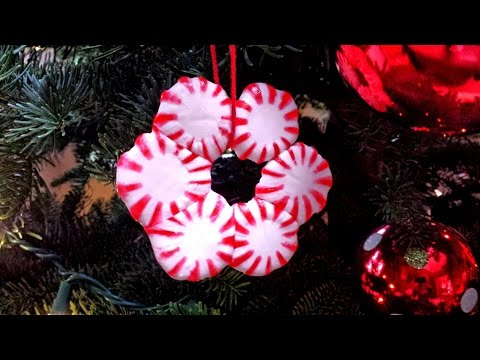 How to make Peppermint Candy Christmas Ornaments!