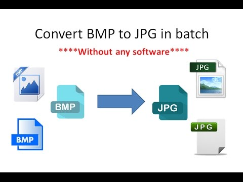 How to convert bmp files to jpg jpeg in batch Using CMD